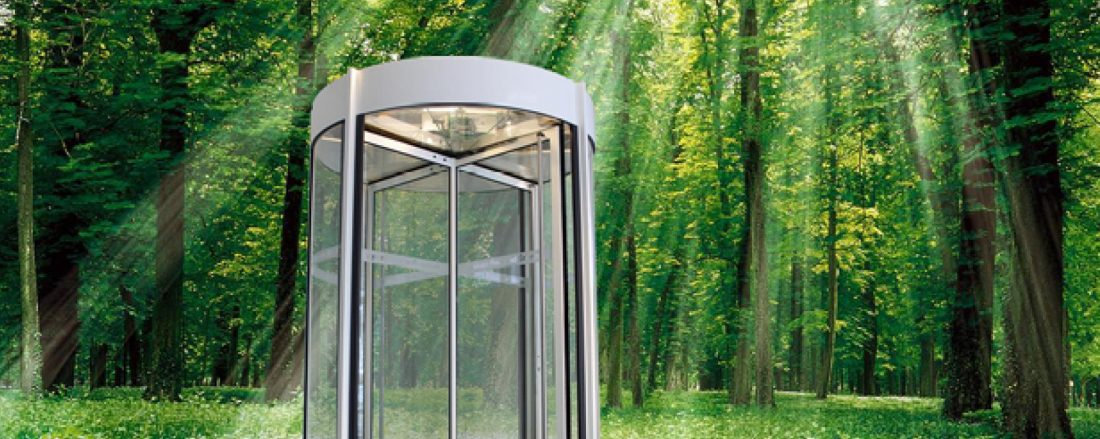 energy generating revolving-door
