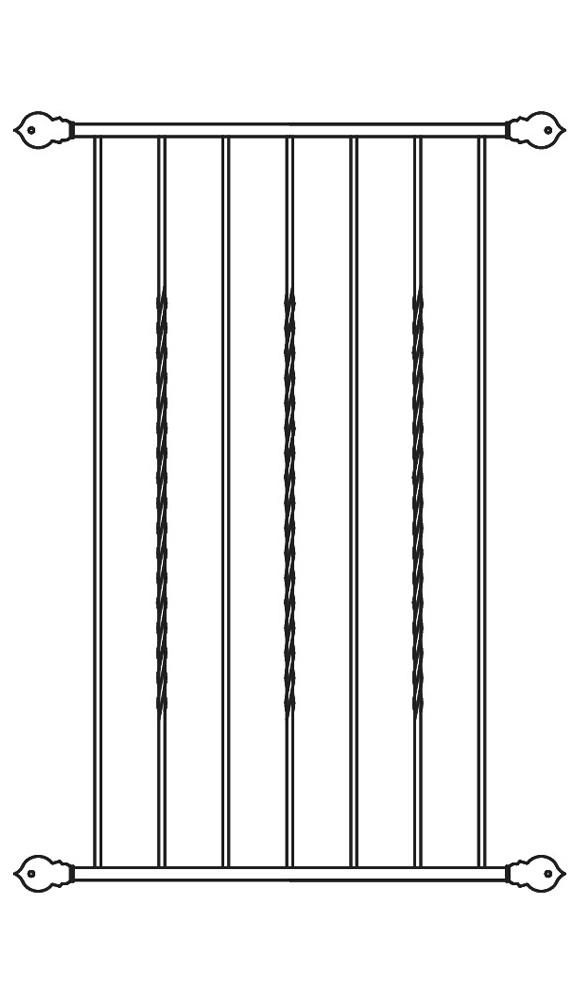 iron window grille venice