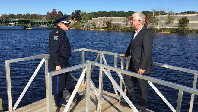 Bridgewater riverside park adds security camera