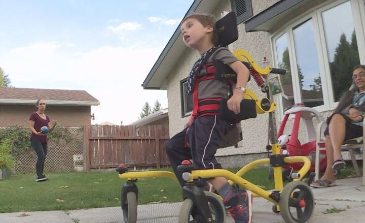 SMD program helps child with cerebral palsy walk to his mother, give her a hug - Winnipeg