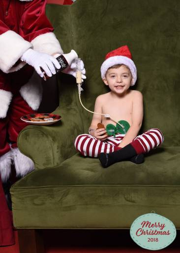 A 4-year-old autistic Indiana boy has become famous thanks to a mall Santa and a special moment involving a feeding tube.