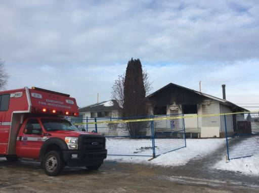 One person has died and three others are in hospital following a west Edmonton fire at a home for adults with disabilities early Monday morning.