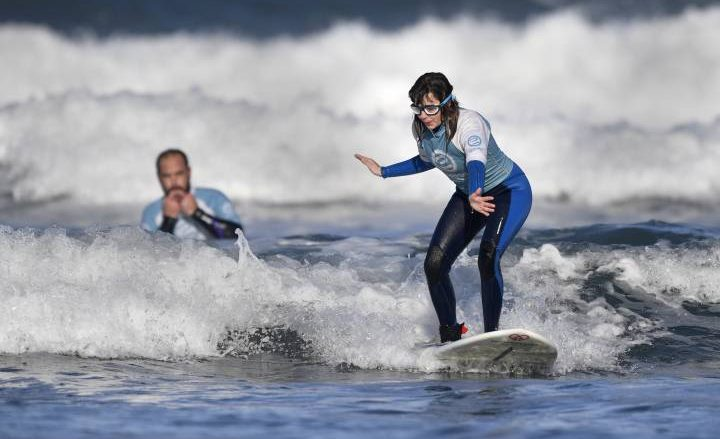 'The sea is where I feel peace and freedom': Blind Spanish surfer aims for world title - National