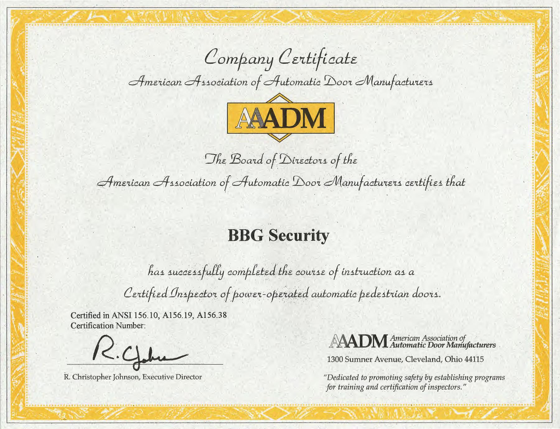 AAADM cert full - BBG