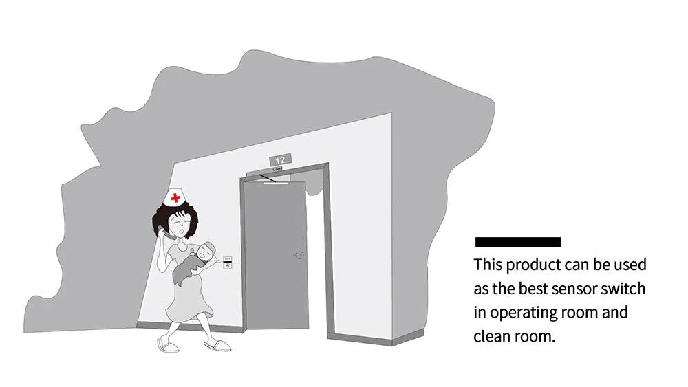 Details about Free Your Hand Automatic Swing Door Opener Touchless Hand Sensor Door